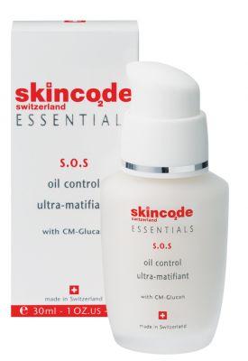 Скинкод матиращ флуид С.О.С/Skincode ultra-matifiant fluide S.O.S 30ml