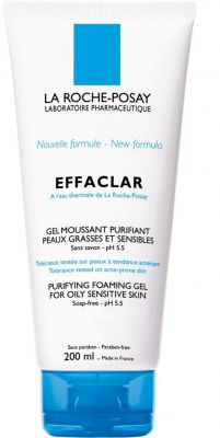 Ла Рош Позе Ефаклар почистващ гел/La Roche-Posay Effaclar gel moussant 200ml 400ml