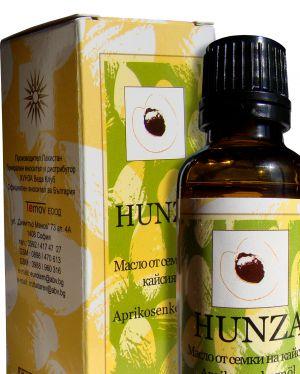 Хунза масло от семки на кайсия/Hunza oil 30ml ЗЕЛЕНА