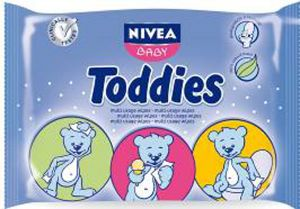Нивеа Бебе кърпички Тодис/Nivea Baby Todies 60wipes