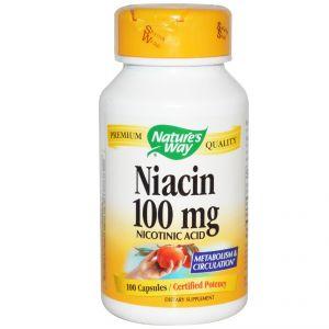 Ниацин/Nature's Way Niacin 100mg * 100caps.