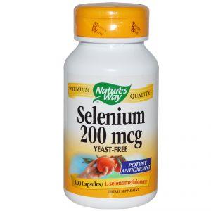 СеленNature's Way Selenium 200mcg * 100caps.
