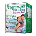 Витабиотикс Прегнакеър за него и нея/Vitabiotics Pregnacare his and her conception * 60tabl.